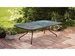 Metal Dining Table Chairs Walmart Outdoor Patio Table Glass Top