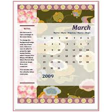 How To Make A Calendar In Microsoft Word 2003 And 2007