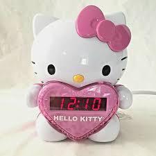 Hello Kitty Digital Am Fm Clock Radio With Night Light Hello Kitty Projection Alarm Clock Radio Pink Girl Room
