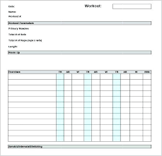 Muscle Chart Template Impressive Exercise Chart Template Workout Schedule Templates Free Ball