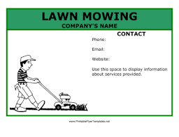 lawncare ad lawn_mowing_flyer png