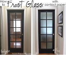 that is literally how easy it is to frost glass with contact paper