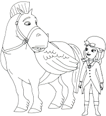 Small Picture minimus and sofia the first coloring page Coloring Kids