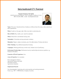 Resume Format International Resume format Doc Best Of International Resume 60