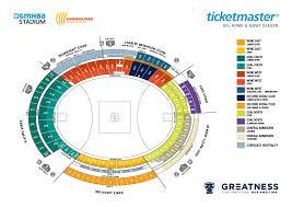 Gmhba Stadium Seating Map Austadiums
