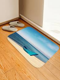 outfits seaside boat print non slip floor area rug