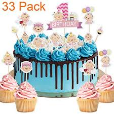 Amazoncom 33 Pack Little Baby Its A Girl Pink Cupcake Toppers For