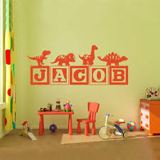 brand new boys dinosaur blocks name wall decal nursery room kids vinyl wall graphics decor wall sticker you choose name color in wall stickers from home  on dinosaur bedroom wall stickers with brand new boys dinosaur blocks name wall decal nursery room kids