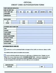 new blank credit card authorization form template order with co authorisation word letter to use authorizati