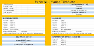 excel bill download excel bill invoice template free excel