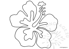 Small Picture Luau flower template Coloring Page