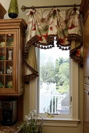 Beautiful Kitchen Valances This Scalloped Valance With Bells Jabots Enhances The Window