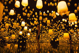 Forest Of Resonating Lamps One Stroke Teamlab チームラボ