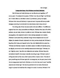 comparative essay walt whitman and emily dickinson gcse  page 1 zoom in