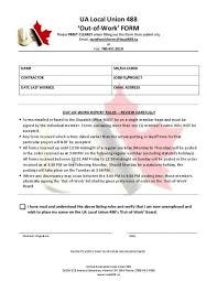 Fax Form Pdf Out Of Work Fax Form Pdf Ua Local 488