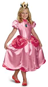 Super Mario Brothers Deluxe Princess Peach Dress Costume