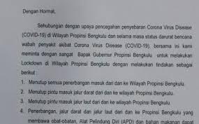 Contoh surat permohonan bantuan dana sponsor. Wali Kota Keluarkan Surat Permohonan Lockdown Kepada Gubernur Bengkulu Duta Warta