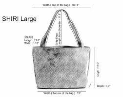 Shiri Tote Size Guide Mayko Bags