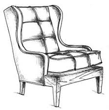 chair drawing. watercolor chair drawing s
