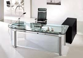 mesmerizing glass top office desk wonderful home decoration ideas designing adorable glass top office