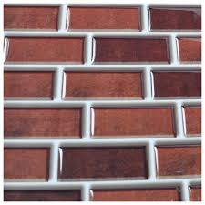 Smart Tiles Kitchen Backsplash Peel And Stick Brick Backsplash Tiles Kitchen Smart Tiles 58 Sq