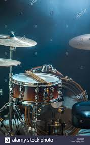 Light Up Drum Musical Instruments Drum Kit Close Up Flash Of Light A