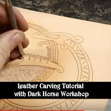 leather carving tutorial viking style with dark horse work
