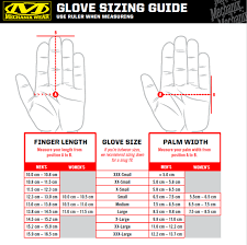 Wiley X Gloves Size Chart Sizes Defcon 5 Italy