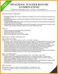 Resume Template For Teachers Castbuddy Me