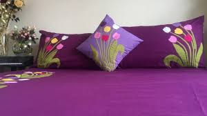 bed sheet designing applique aplic work design hand made bed sheet and pillow covers