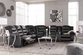 ashley furniture vacherie black sectional to enlarge