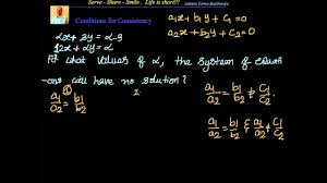 linear equations in two variables conditions for consistency concept examples