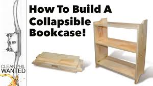 how to build a collapsible bookcase campaign furniture build with hand tools you