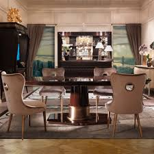 furniture art deco style. Large Walnut Art Deco Style Dining Table Set Furniture