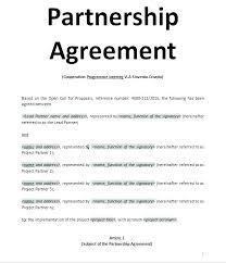 Sample Partnership Agreement Form Partnership Agreement Template Word