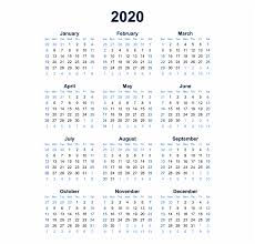 At A Glance Yearly Calendars 2020 Calendar Transparent Background Png Year At A Glance