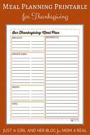 Thanksgiving Menu Meal Planning Free Printable Mom 4 Real
