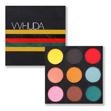 vvhuda eyeshadow makeup palettes super bold bright 9 colorful shades smokey eye shadow cosmetic kit pigmented