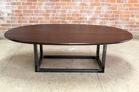 oval office coffee table. Narrow-oval-coffee-table-with-steel-base11 Oval Office Coffee Table T