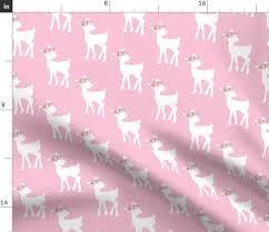 fawn light pink baby deer girls nursery bedding