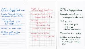 how to print on 3x5 index cards levenger 3x5 index cards reviewed officesupplygeek