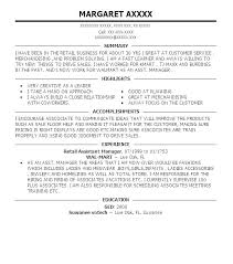 Store Manager Resume Resume Examples Retail Manager Retail Store Awesome Retail Assistant Manager Resume