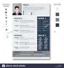Resume Infographic Template Vector creative minimalist cv resume template with photo frame and 58