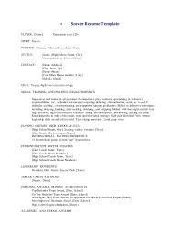 Soccer Player Resume Sample