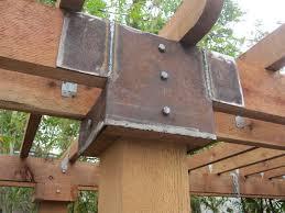 pergola brackets. welded brackets pergola a