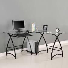 ... L Shaped Writing Desksblack Deskaltra Glass Deskkelsey Desk Whitel  White Feetwhite 81 Astounding Picture Design Home ...