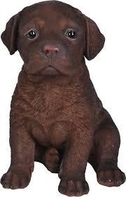 small image of pet pals chocolate labrador pup resin garden ornament