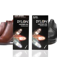 one or two packs of dylon leather shoe dye in black or brown