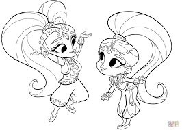 Small Picture Shimmer and Shine coloring page Free Printable Coloring Pages