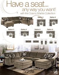 Living Room Furniture Indianapolis Signature Design By Ashley Cosmo Marble Sectional Sofa With